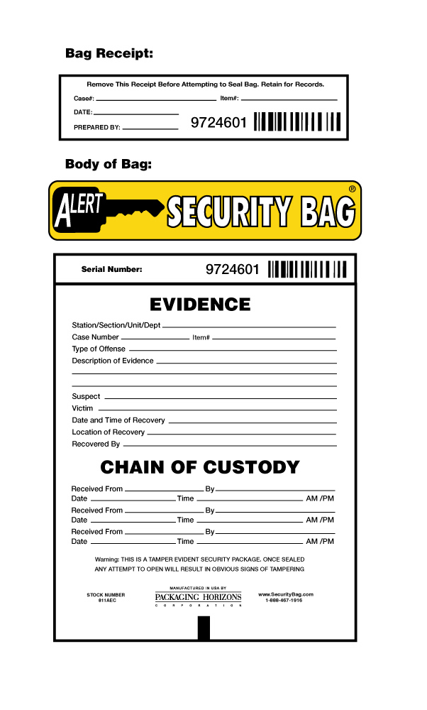 antistatic evidence bag print