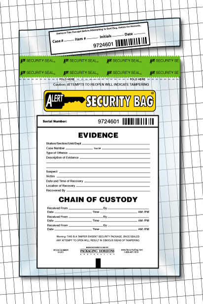 Alert Security Products Evidence And Chain Of Custody Bags