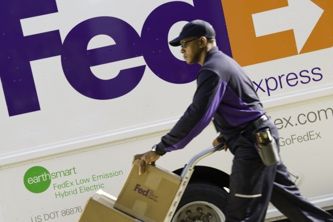 FedEx Pickup of Alert Security Bags