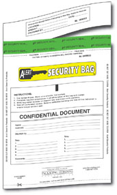 confidential document security bag