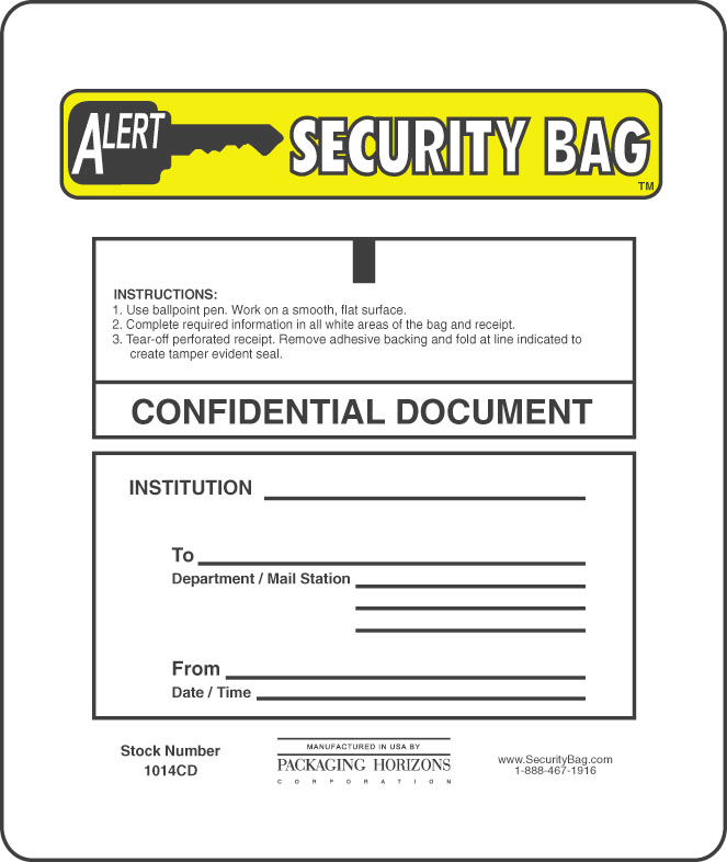 confidential document security bag detail