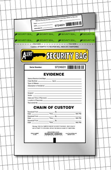 Alert Antistatic Evidence Bag