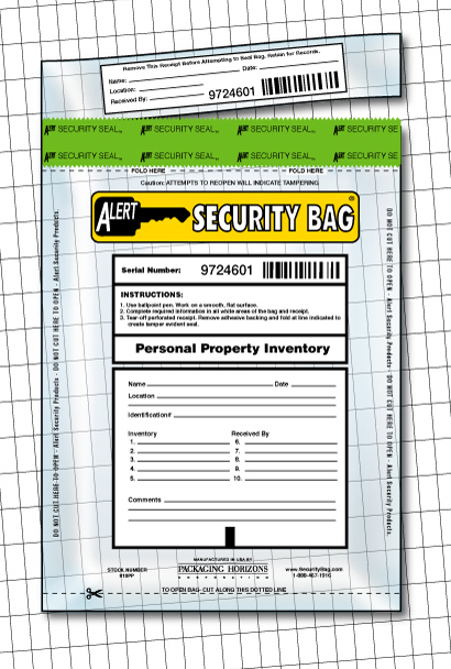 Alert Personal Property Bag